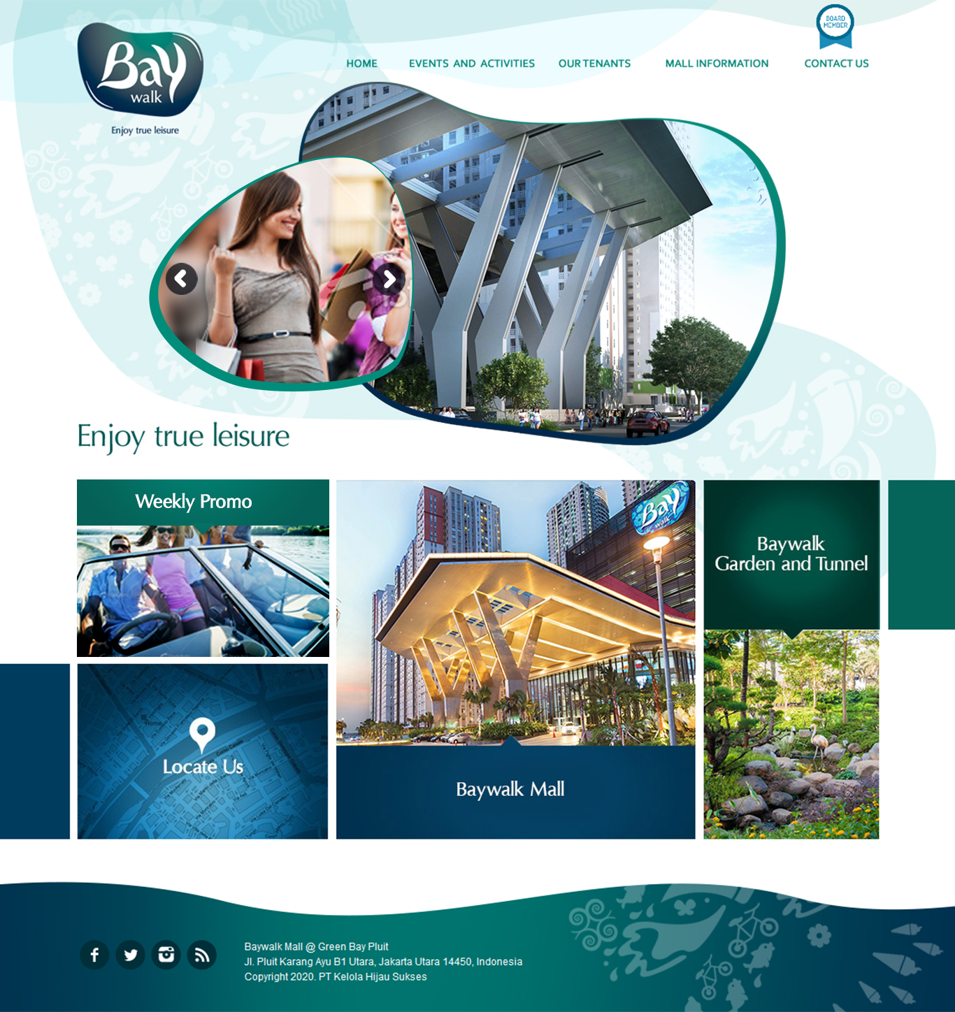 Komunigrafik ui-ux, web design and development Indonesia - Project Showcase and Portfolio Responsive Mobile, Mobile Apps, For Baywalk Mall Jakarta, Indonesia
