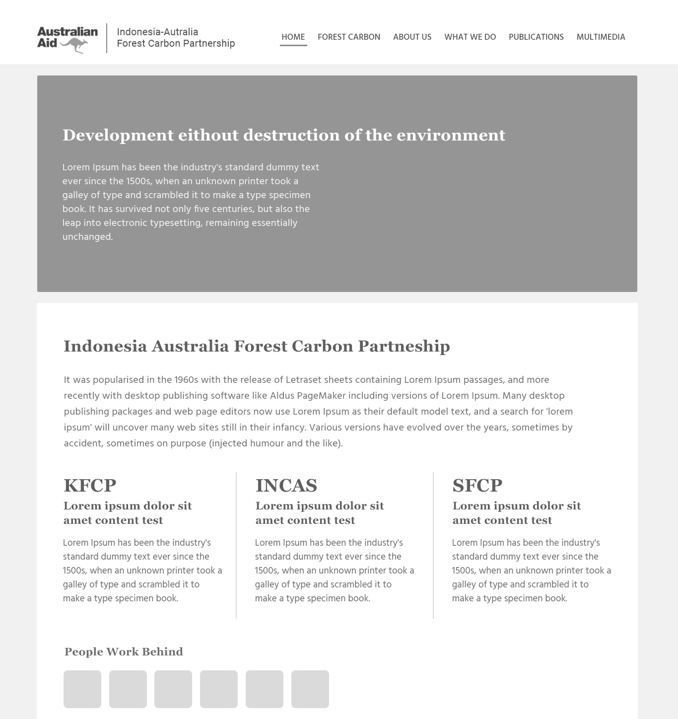 Komunigrafik, ui-ux web design and development Indonesia - Project Showcase and Portfolio for IAFC - Indonesia Australia Forest Carbon Partneship