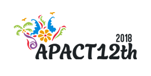 Portfolio Logo client komunigrafik web design and development populer 2020 - logo apact 12th (The 12th Asia Pacific Conference on Tobacco or Health 2018 - Bali Indonesia) png transparent, svg